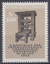 Österreich Austria 1964 ** Mi.1175  Alte Druckerpresse Ancient Printing press