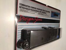 """COMBINATION COMPASS & PANORAMIC REAR VIEW MIRROR, MIRROR 10.5"""" X 2.5"""""""
