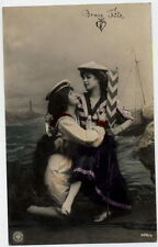 T1550 RISQUE WOMEN IN LOVE GAY LESBIAN INTEREST NPG RPPC
