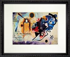 Yellow - Red - Blue. Wassily Kandinsky. Poster Framed (Real Wood Black Frame #6)