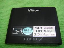 GENUINE NIKON COOLPIX S80 FRONT CASE COVER BLACK REPAIR PARTS