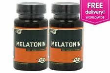 Optimum Nutrition Melatonin 3 mg sleeping aid 200 Tablets - Free Shipping Int'l
