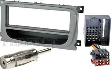 Ford Mondeo BA7 Focus C307 Galaxy WA6 Radio Blende silber + ISO Adapter Quadlock