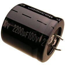 Elko Kondensator Jamicon LP 100V 2200uF RM10 30x30mm 85°C Snap-in 065987