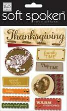 Me & My Big Ideas Ellen HARVEST THANKSGIVING Soft Spoken 3-D Stickers Scrapbook