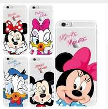 mm COVER TRASPARENTE SILICONE IPHONE 4 - 5 - 6 MICKEY MOUSE MINNIE DONALD DUCK