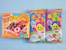 3 PCS SET Kracie Popin Cookin Japanese Candy Making Kit Doughnut Nerunerunerune