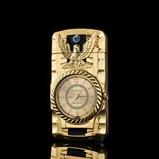 Multifunctional Cigarette Lighter Gold Bird Quartz Watch For Men