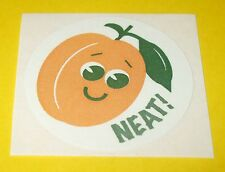 Vintage 70s/80s SNIFFOO'S Scratch n Sniff MATTE Sticker APRiCOT Scent~NEAT!~Rare