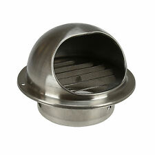 """Stainless Steel Round Bull Nose Mesh Grill Outlet Exhaust Extractor Wall Vent 5"""""""