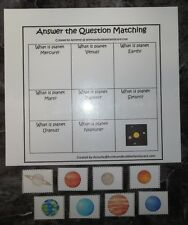 Solar System Answer the Question educational game.  Learn what planets look like