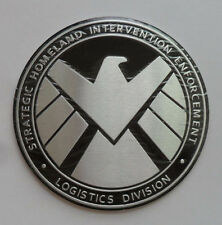 Avengers Marvel Agents of SHIELD Chrome Metal Car Sticker Badge Emblem Decal T01