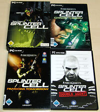 4 PC SPIELE SAMMLUNG - TOM CLANCY'S SPLINTER CELL PANDORA CHAOS THEORY DOUBLE