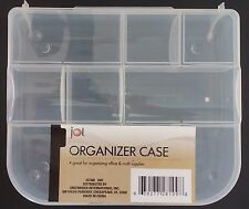 "Jot SMALL CLEAR PLASTIC LOCK-TOP ORGANIZER CASES 9 Sections 7.5""x6.5""x1.75"""