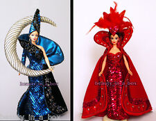 Moon Goddess & Queen of Hearts Bob Mackie Barbie Doll Used Displayed  NO BOXES