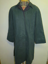 Genuine Burberry Bottle Green Cotton Raincoat Coat Mac Size UK 12 S Euro 40