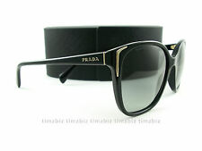 New Prada Sunglasses SPR 01O Black Gray Gradient 1AB3M1 Authentic Made in Italy