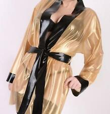 Latex Rubber Transparent and Black Fashion Sexy Unique Coat Size XS-XXL