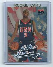 2003-04 FLEER LEBRON JAMES USA BASKETBALL ROOKIE CARD+2003-04 UD PACK-ROOKIES