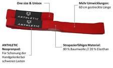 ANTHLETIC Zughilfen (gepolstert), Lastzughilfe, Bodybuilding, (Ein Paar // rot)