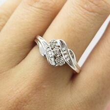 Kay Jewelers 925 Sterling Silver Natural Diamonds Ring Size 6 3/4