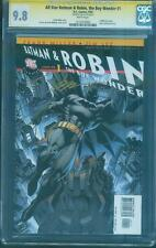 All Star Batman & Robin 1 CGC SS 9.8 Jim Lee Gold Signed script by Frank Miller