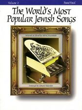 The World's Most Popular Jewish Songs for Piano Sheet Music Volume 2 T 000330639