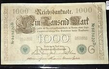 Reichsbanknote $1000 Banknote 1910 GREEN Seal Pic 45A