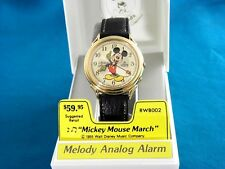NOS VINTAGE LORUS by Seiko MICKEY MOUSE ALARM MELODY WATCH NIB