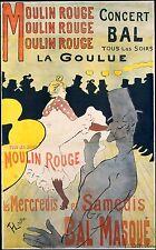Toulouse LAUTREC Moulin Rouge la Weber 1881 TEATRO POSTER 12x7 pollici RISTAMPA