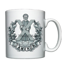 The Queen's Own Cameron Highlanders Personalised Mug / Cup *