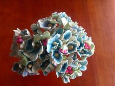 Vintage Millinery Flower Forget Me Not All Blue for Hat Wedding + Hair Crown B3