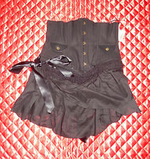 LIP SERVICE RARE OOAK STEP IN TIME BLACK CINCHER MINI SKIRT M 83-294