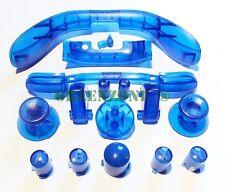 Xbox 360 Completo Claro Azul Mod Kit Abxy Botones, sincronización, thumbsticks, Lb, Rb, Lt, rt