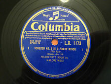 "MALCUZYNSKI (Pianoforte Solo) ""SCHERZO No.3 in C SHARP MINOR"" 12"" 78rpm 1949 EX+"