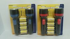 LOT OF NEW RAYOVAC INCANDESCENT 9 LUMENS FLASH LIGHTS 2 SETS