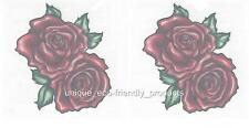 LOT 2 - RED ROSES FULLY OPENED Temporary Tattoo ~ SEXY ~