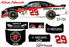 CD_1254 #29 Kevin Harvick   Jimmy Johns Chevy  1:64 Scale Decals