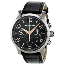 Montblanc Timewalker Chronograph Automatic Black Dial Mens Watch 101548