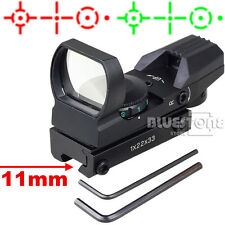 Tactical Holographic Red/Green Dot Reflex 4 Reticle Sight Scope w/ Mount 11mm