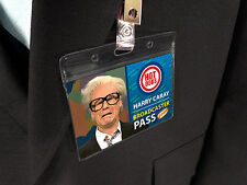 Harry Caray Glasses Halloween Costume Name Badge ID Card Press Pass Sportscaster