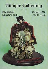 Early WOODEN DOLLS Rugs Japanese Print  Antique Collecting Magazine October 1977