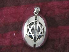 Star Of David Ladybug Locket Sterling Silver by Michael Bromberg