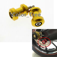 For SUZUKI GSX650F Katana 2008 8mm Swingarm Spool Slider Bobbin Gold Hades