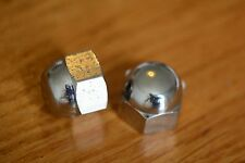 "Whitworth 1/2""BSW dome nuts heavy chrome on solid brass x 4"