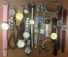 Wristwatch watch lot mix 17 running men's ladies fashion complete bands Battery