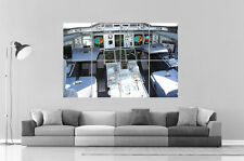 Cockpit plane avion Airbus A380 Aircraft Poster Grand format A0 Large Print