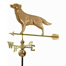Good Directions Golden Retriever Weathervane with Arrow - Polished Copper 644PA