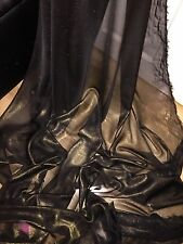 "1 MTR BLACK/GOLD SHIMMER CHIFFON FABRIC...60"" WIDE"