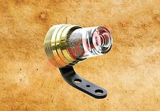 Fanalino CICCHETTO Ghiera Ottone /Glass Tail Light Moto Harley e Custom